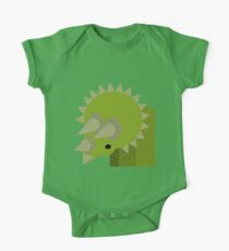 Triceratops Dinosaur One Piece - Short Sleeve