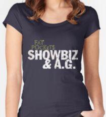 Fat Pockets Showbiz AG Women's Fitted Scoop T-Shirt