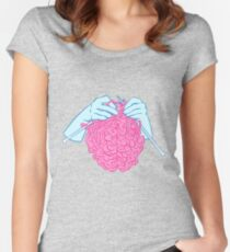 Knitting a brain Fitted Scoop T-Shirt
