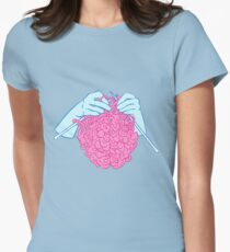 Knitting a brain Women's Fitted T-Shirt