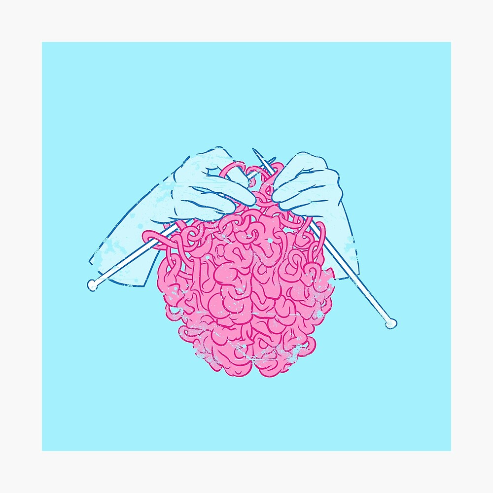 Knitting a brain Photographic Print
