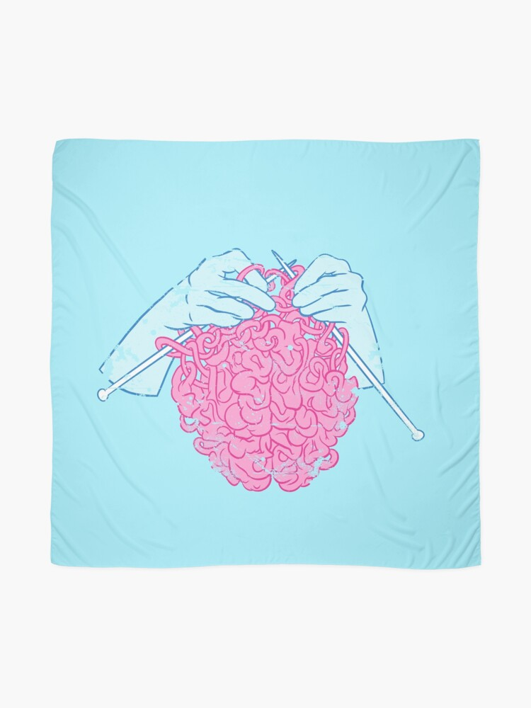 Alternate view of Knitting a brain Scarf