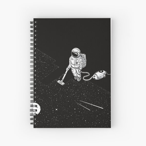 Space Cleaner Spiral Notebook
