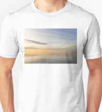 Peace and Quiet in Soft Yellows Grays and Blues Unisex T-Shirt