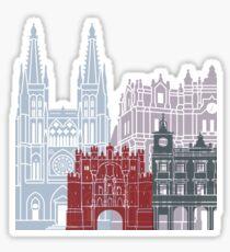 Burgos skyline poster Sticker