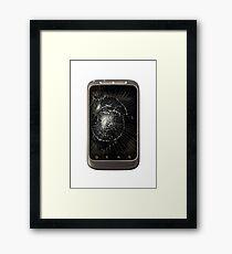 Broken Mobile Phone Framed Print