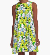 Too Many Birds! - Budgie Squad 1 A-Line Dress