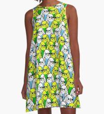 Too Many Birds! - Budgie Squad 1 A-Line Dress