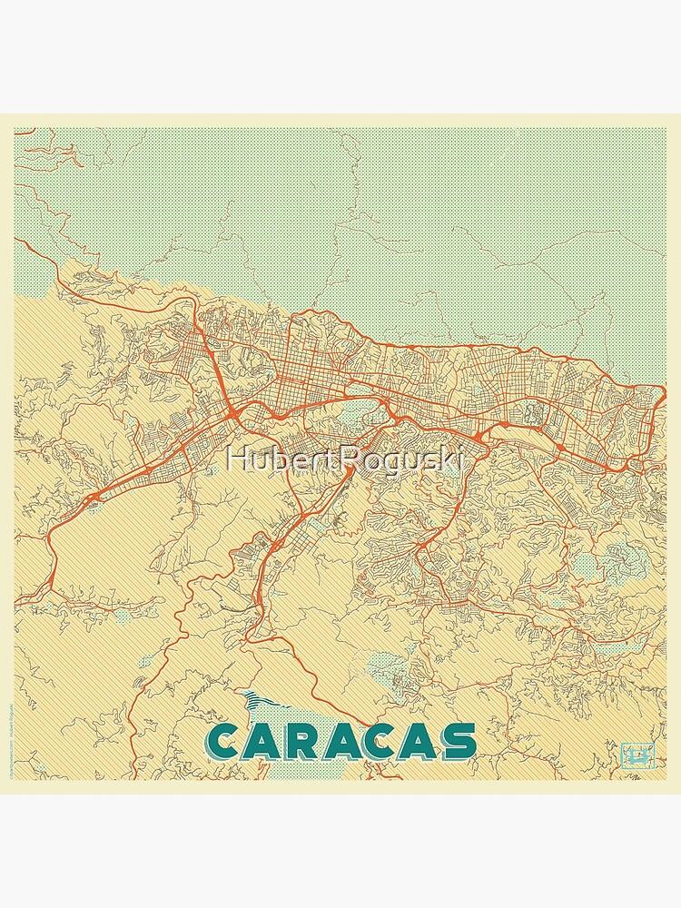 Caracas Map Retro by HubertRoguski