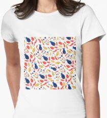 Rustic Floral Womens Fitted T-Shirt