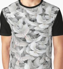 White pigeons Graphic T-Shirt