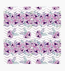 Watercolor Flowers Pattern Photographic Print