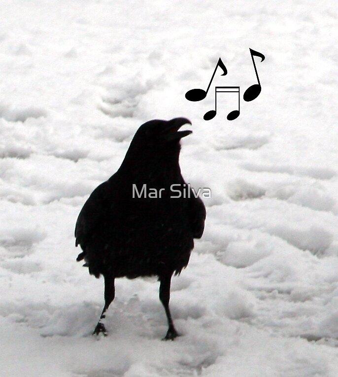 Raven sings the blues by Mar Silva