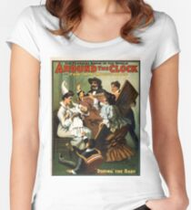 Around the clock 1 - US Lithograph - 1907 Women's Fitted Scoop T-Shirt