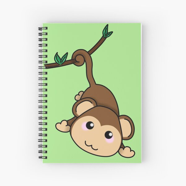 Cute little monkey Spiral Notebook