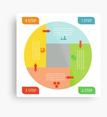 info graphic business circle Metal Print