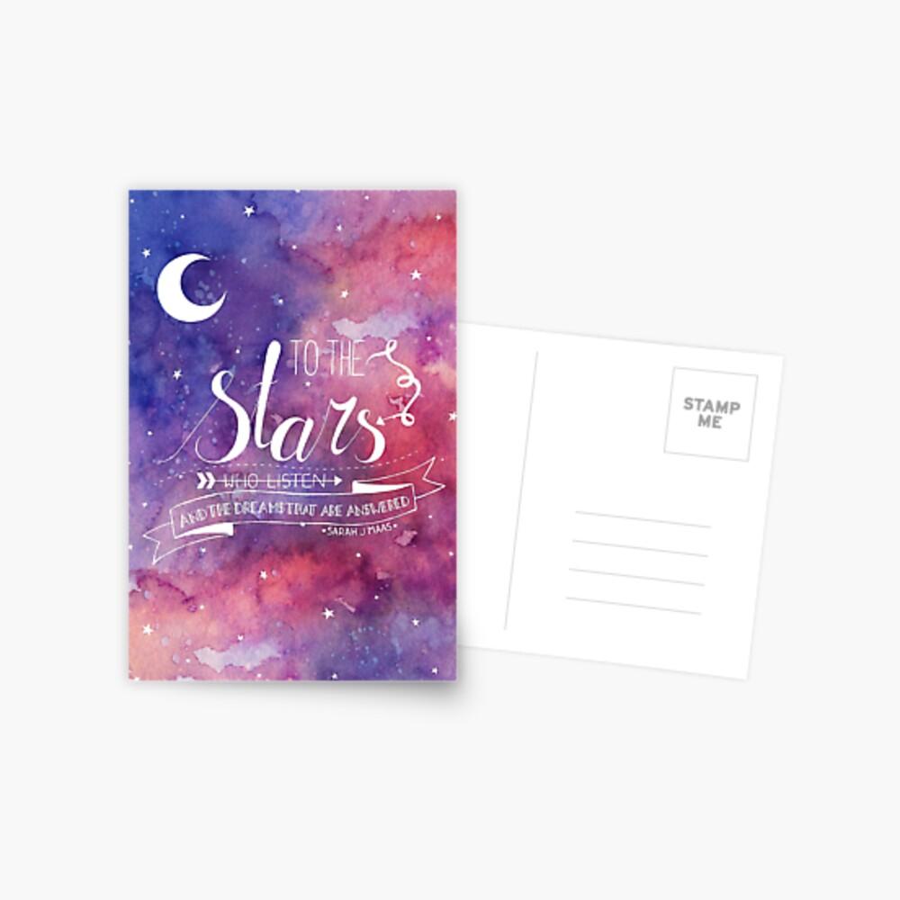 Zu den Sternen ACOMAF-Zitat Postkarte