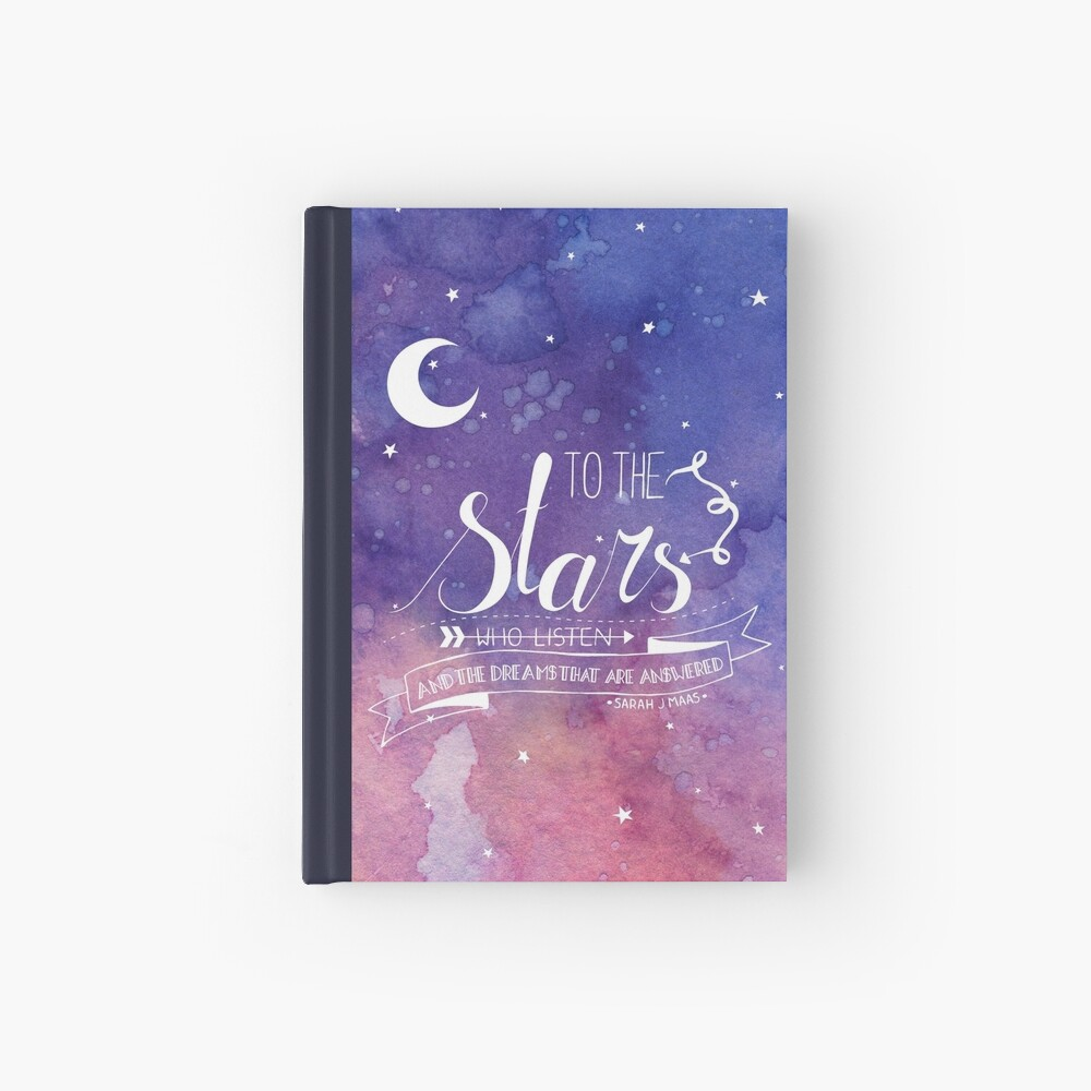 Zu den Sternen ACOMAF-Zitat Notizbuch