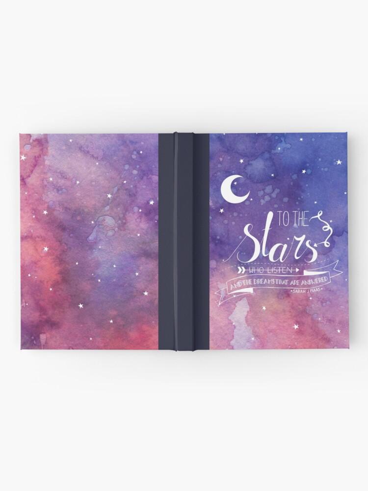 Alternative Ansicht von Zu den Sternen ACOMAF-Zitat Notizbuch