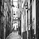 Genova, Italy old town vicolo by gameover