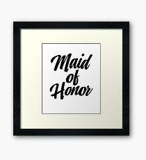 Maid Of Honor Framed Print