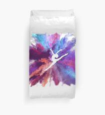 Gymnast Rainbow Explosion Duvet Cover