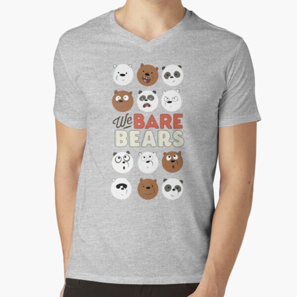 We Bare Bears Camiseta de cuello en V
