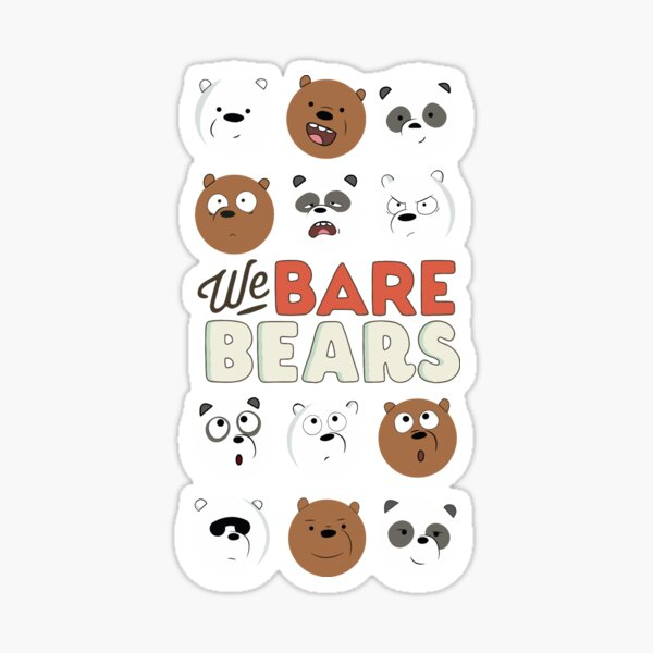 We Bare Bears Pegatina