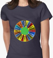 Wheel of fortune Womens Fitted T-Shirt