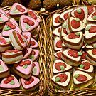Fruit on triangular sweets by Arie Koene