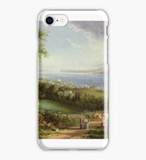 View of the Hudson River from near Sing Sing, New York by Robert Havell the Younger iPhone Case/Skin