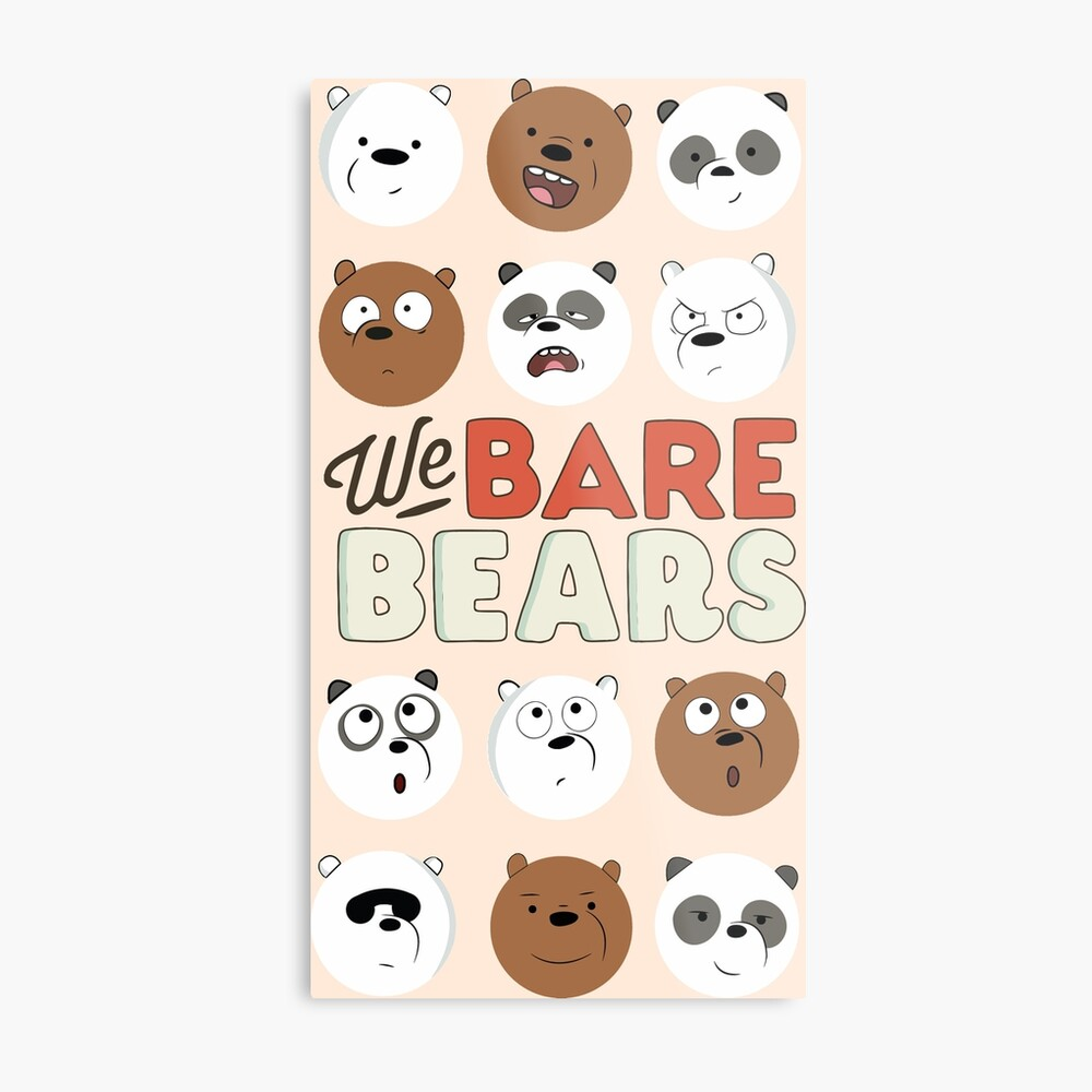 We Bare Bears Metal Print