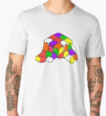 Melted Rubix... Men's Premium T-Shirt