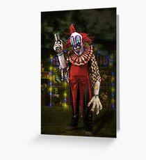Jim Le Grin the Creepy Clown Greeting Card