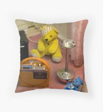 End of a 70's party - stoned bears Throw Pillow