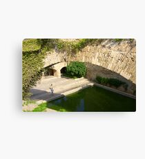 Palma Cathedral Courtyard Canvas Print