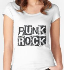 Punk Rock - Black Grunge Block Women's Fitted Scoop T-Shirt