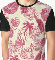 Tropical Leave Pattern Graphic T-Shirt