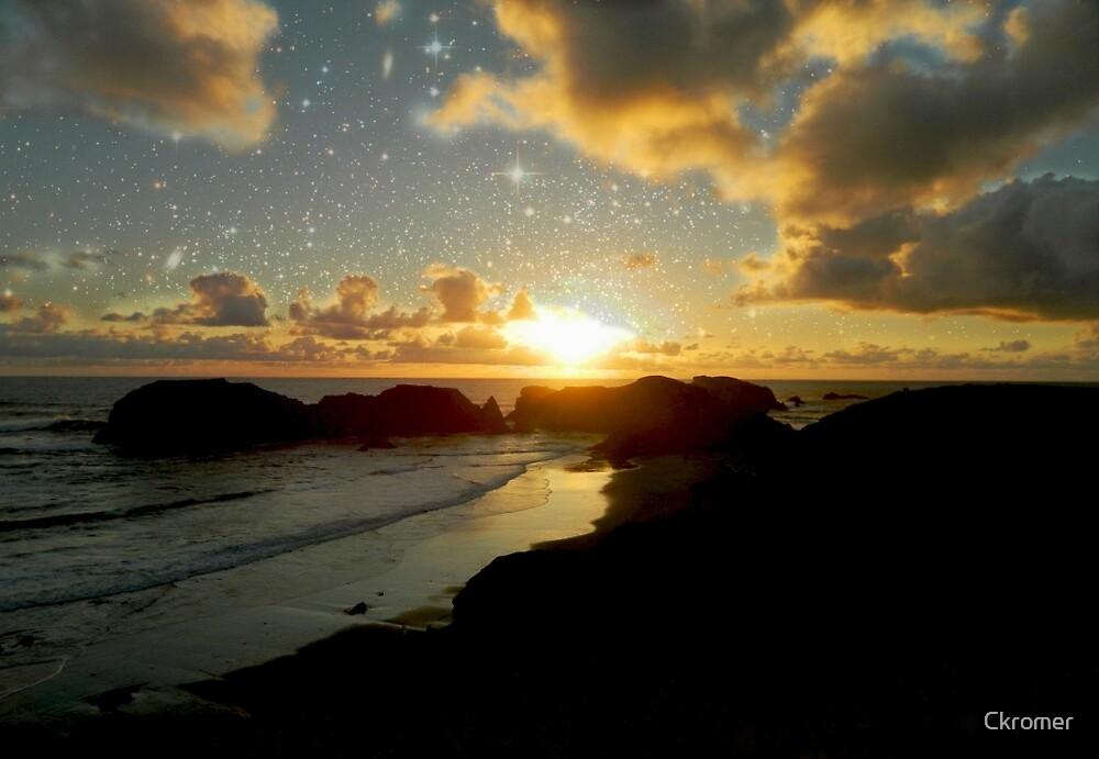 Blissful Sunset Beach  by Ckromer