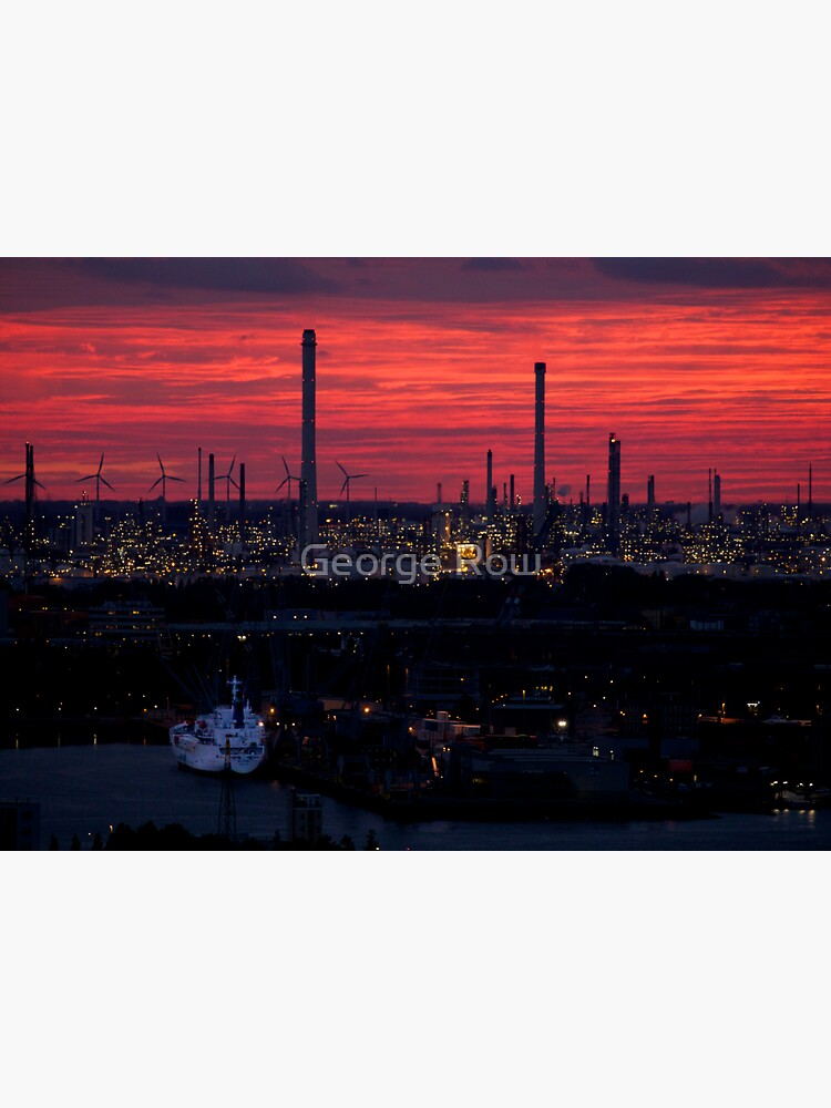 Rotterdam Harbour Skyline at Sunset, from Euromast by VeryIreland