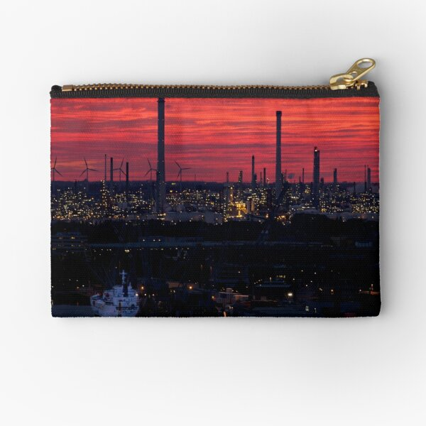 Rotterdam Harbour Skyline at Sunset, from Euromast Zipper Pouch