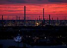 Rotterdam Harbour Skyline at Sunset, from Euromast by George Row