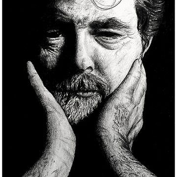 GEORGE LUCAS CHARCOAL by gabrielecaron