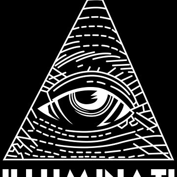 Illuminati White - All Seeing Eye - Font by kibo