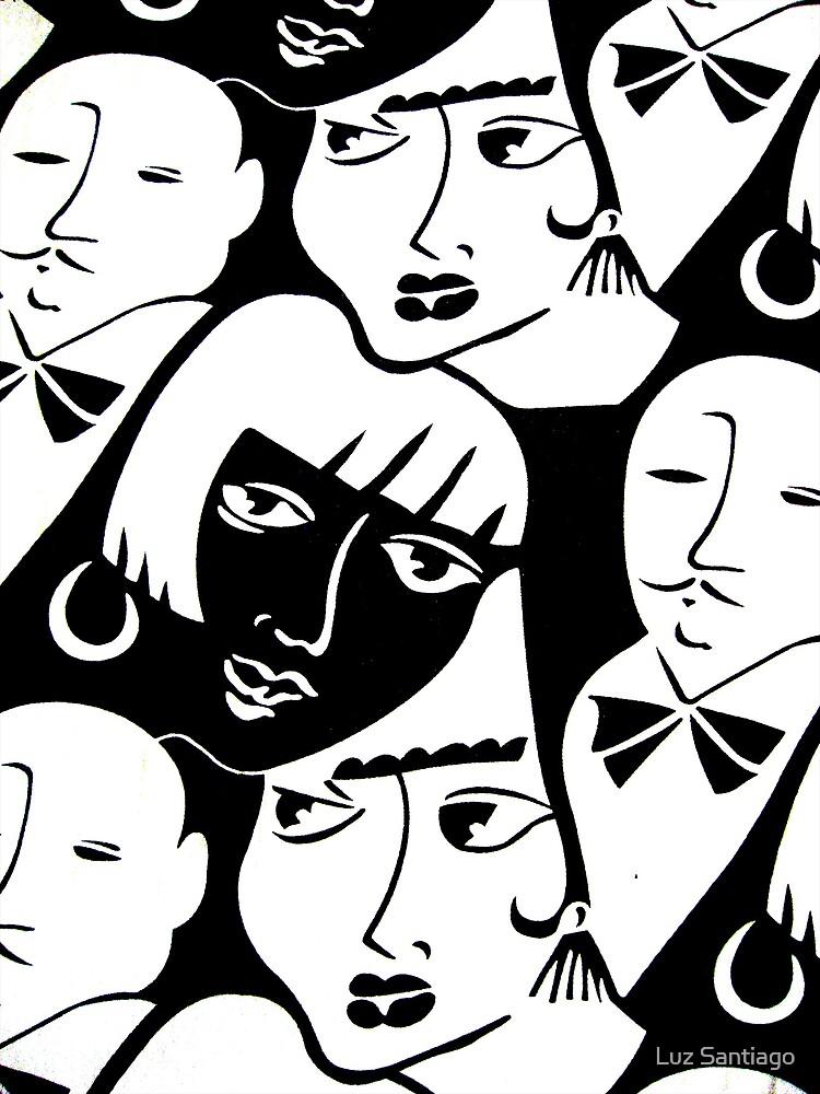 """""""Party Crowd"""" by Luz Santiago"""