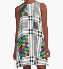Rainbow Shemagh A-Line Dress