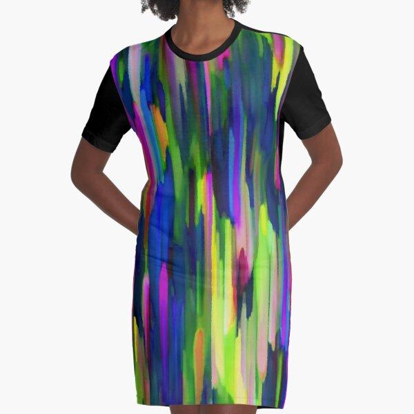 Colorful digital art splashing G256 Graphic T-Shirt Dress