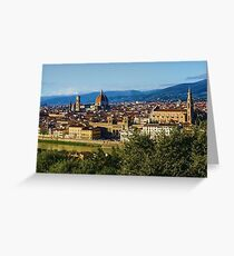 Impressions Of Florence - a View From the Top Greeting Card