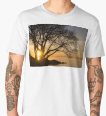 Fiery Sunrise - Like A Golden Portal To Another World Men's Premium T-Shirt