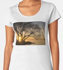 Fiery Sunrise - Like A Golden Portal To Another World Women's Premium T-Shirt